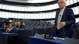 European Commission President Juncker addresses the European Parliament