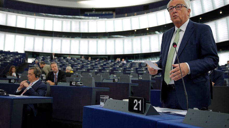 European Commission President Juncker addresses the European Parliament