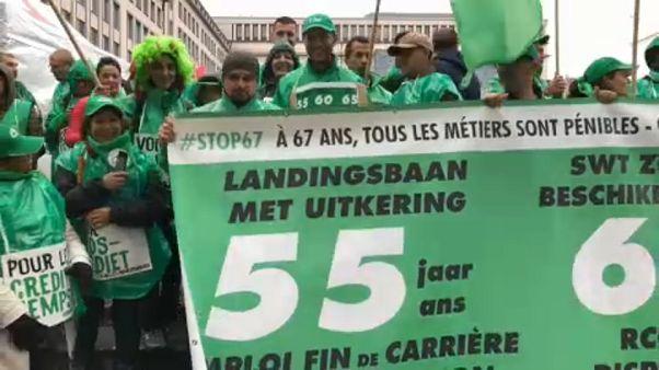 Βέλγιο: Απεργιακή κινητοποίηση κατά της συνταξιοδοτικής μεταρρύθμισης