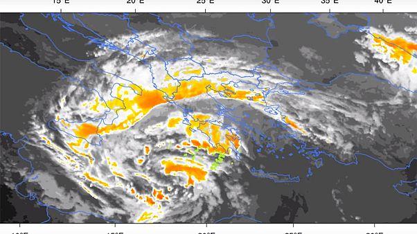 ΒΙΝΤΕΟ: Ο μεσογειακός κυκλώνας «Ξενοφών» από το διάστημα!