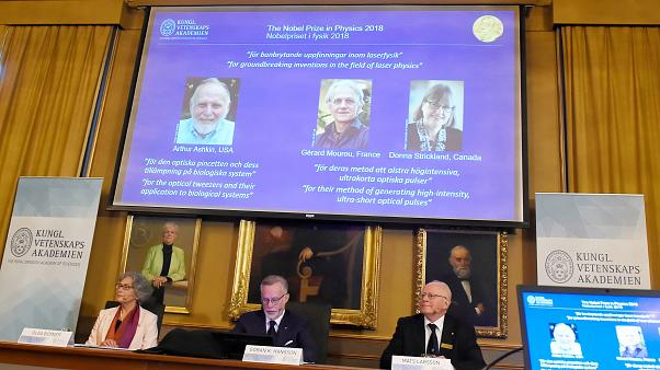 2018 Nobel Prize for Physics awarded for lasers and sees first female physics laureate since 1963