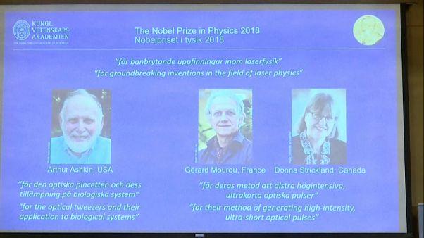 Tres estudios sobre herramientas láser ganan el Premio Novel de Física