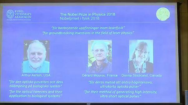 Három lézerkutatóé az idei fizikai Nobel-díj