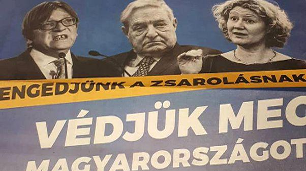 Soros, Sargentini és Verhofstadt képével kampányol a magyar kormány