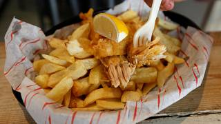 Vegan fish and chips shop opens in London