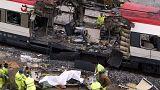 Photo attentats du 11 mars 2004 à la gare d'Atocha à Madrid.
