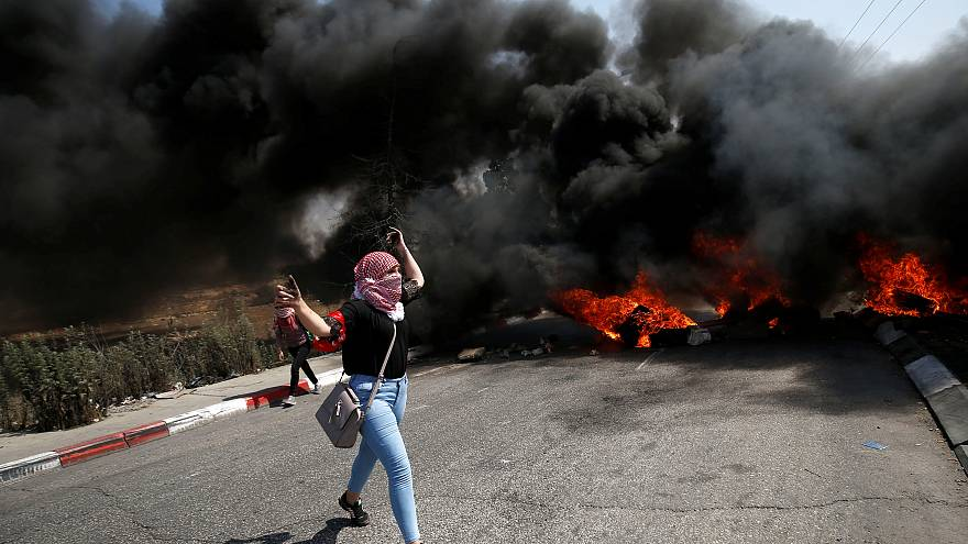 شاهد: اشتباكات بين فلسطينيين والجيش الإسرائيلي في الضفة الغربية