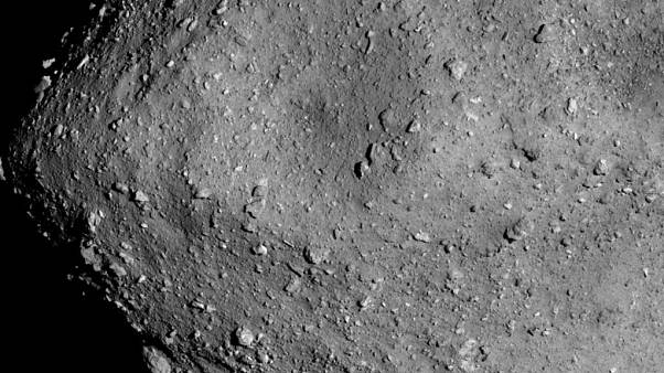 Picture of the Ryugu asteroid taken on July 20, 2018.