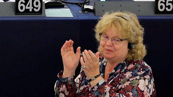 Jean Lambert MEP at the European Parliament in Strasbourg