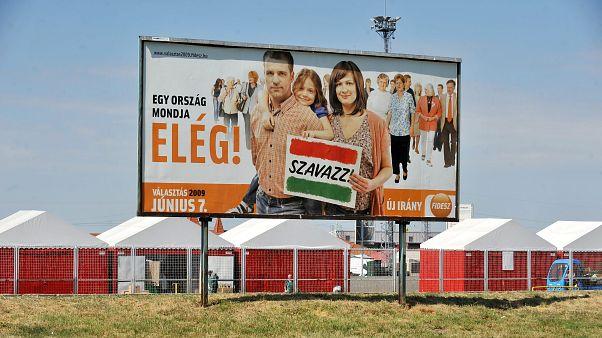 A Fidesz választási óriásplakátja Budapesten 2009-ben