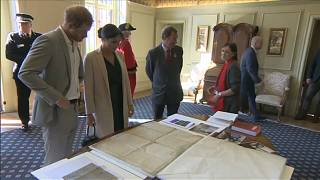 Meghan and Harry inspect US Declaration of Independence in England