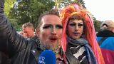 Демонстрации в Берлине в День германского единства