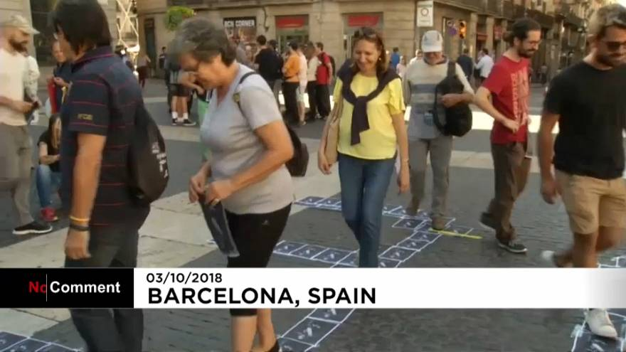Manifestación de independentistas catalanes contra el rey Felipe VI