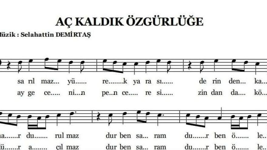 Demirtaş'ın cezaevindeki 12'nci bestesini seslendiren Bedran: Çıkınca albüm yapabiliriz