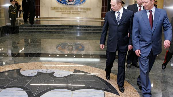Russian President Vladimir Putin visits GRU headquarters in Moscow