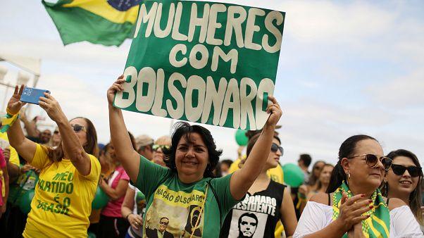 Manifestação de apoio a Bolsonaro