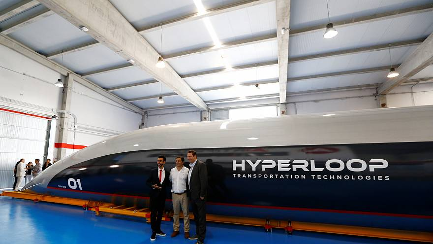 Watch: World's first full-sized Hyperloop capsule unveiled in Spain