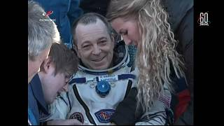 Tres astronautas regresan a la Tierra tras casi seis meses en el espacio