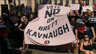 Protestas ante el Tribunal Supremo de EE.UU. por la esperada designación de Kavanaugh