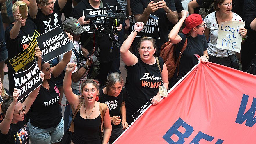 Trump'ın yüksek mahkeme adayına protesto