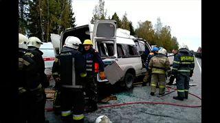 Két busz ütközött Oroszországban