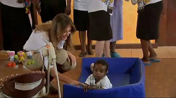 Melania Trump zu Gast in Kenia