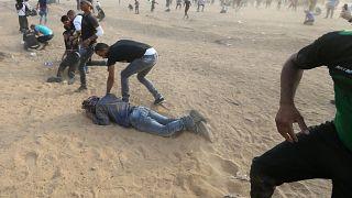 Três palestinianos mortos na fronteira com Israel