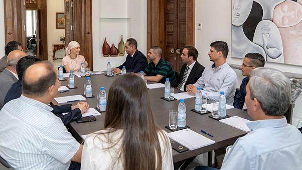 أسماء الأسد في اجتماع
