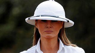 Melania Trump in Afrika: Kolonial-Look und Schlangenleder-Schuhe in der Kritik - 10 Fotos