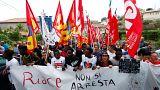 Manifestation de soutien au maire de Riace en Italie