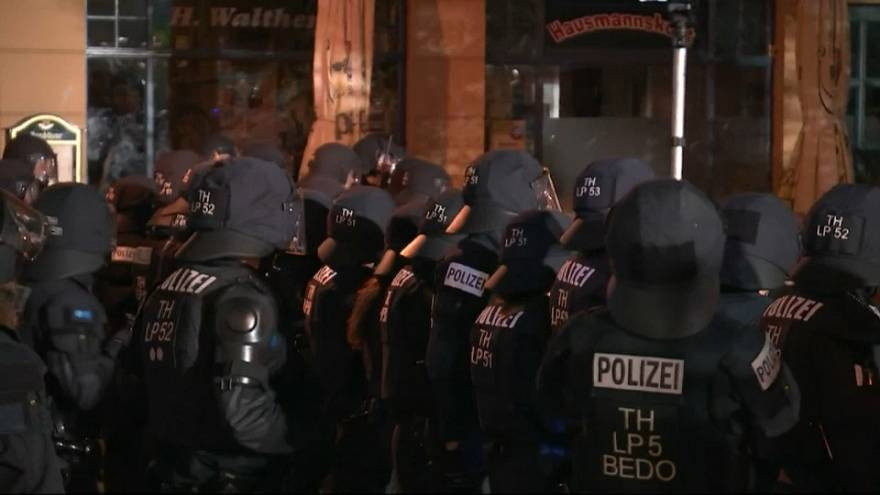 Far-right rock fans clash with police in Germany