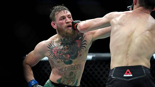 On and offstage brawls erupt after Khabib beats McGregor in UFC fight