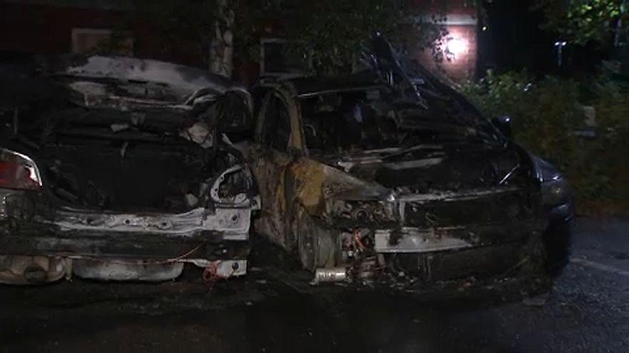 Öt autó égett ki éjszaka egy finn városban