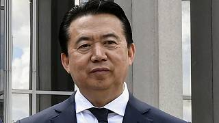 INTERPOL President Meng Hongwei poses at headquarters in Lyon, France