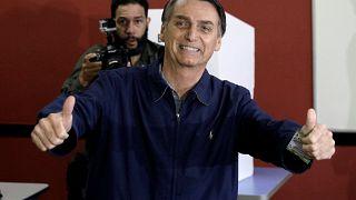 Bolsonaro quedó a un paso de la Presidencia va a segunda vuelta con Haddad
