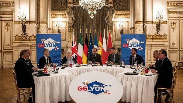 G6 a Lione: migranti in menù e partenza in salita