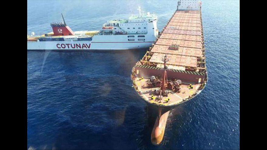 Collisione al largo della Corsica: si riversano 600 m3 di idrocarburi