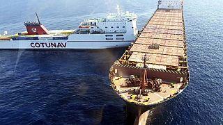 Hajók ütköztek össze Korzikánál