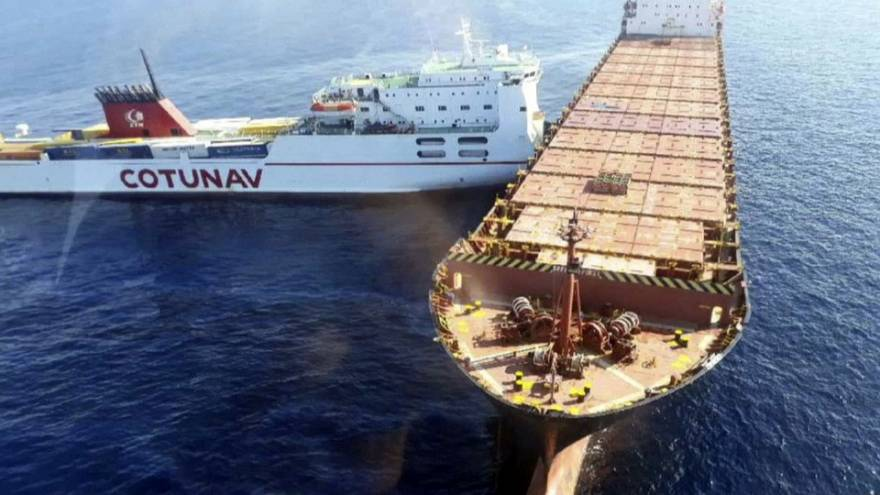 Ships collide near Corsica causing major fuel spill