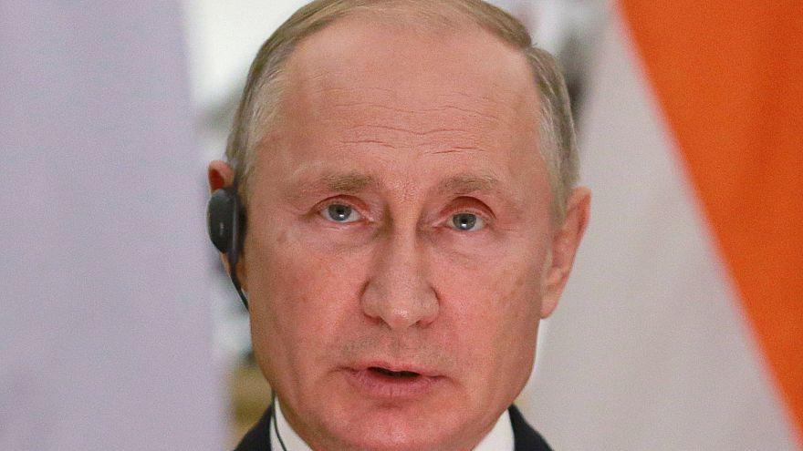 Russian President Vladimir Putin on a vist to India, 5 October.