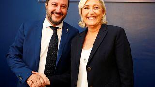 Far-right leaders meet: Marine Le Pen and Italy's Matteo Salvini