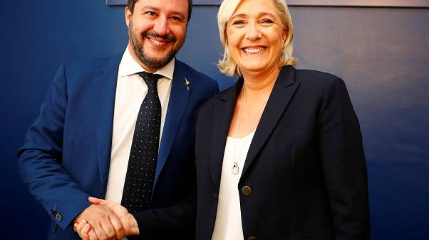 Far-right leaders meet: Marine Le Pen and Italy's Matteo Salvini