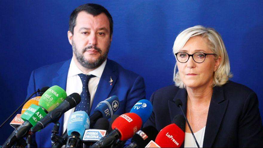 """Salvini y Le Pen auguran """"una revolución"""" contra la UE en las elecciones europeas de mayo"""