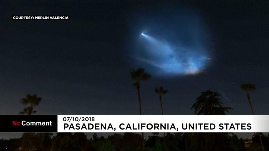 Aurora Borealis and SpaceX light up night skies