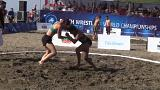 VİDEO | Sarıgerme Plajı'ında kumda güreş heyecanı