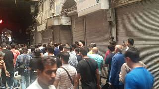 اعتصاب و اعتراض مغازهداران به گرانی و کسادی بازار در چند شهر ایران