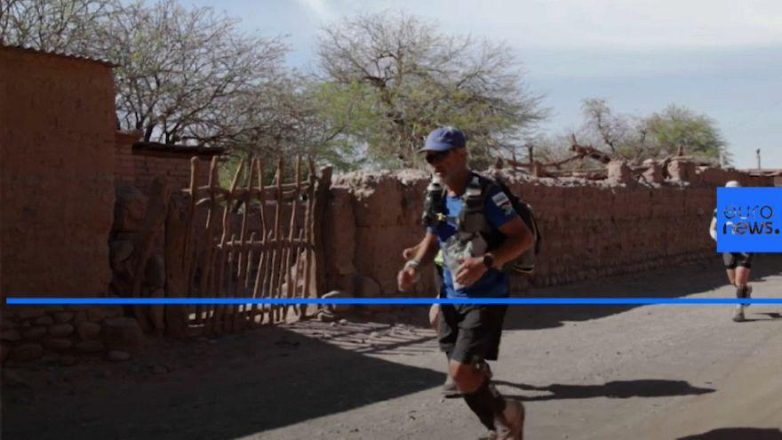 Athletes brave extreme temperatures in Atacama desert ultramarathon