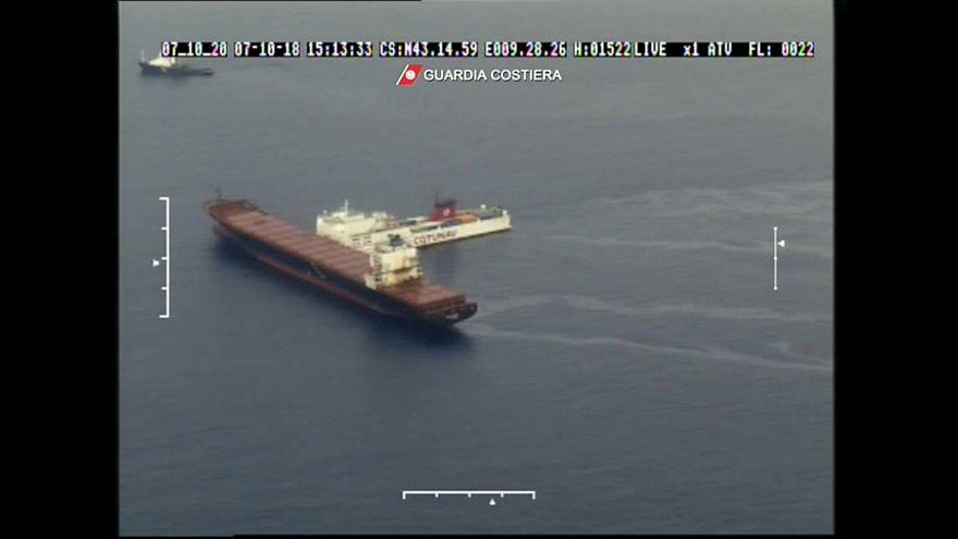 Córcega: controlada la mancha de petróleo provocada por la colisión de dos barcos