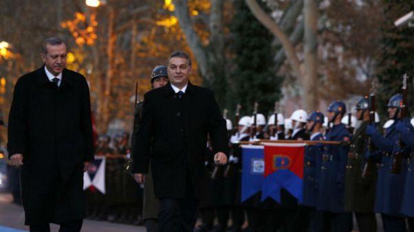 Macar muhalif partileri Erdoğan-Orban görüşmesini protesto etti