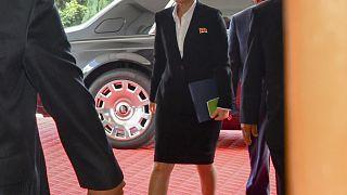 صورة للسيارة التي وصل فيها كيم جونغ أون للقاء بومبيو